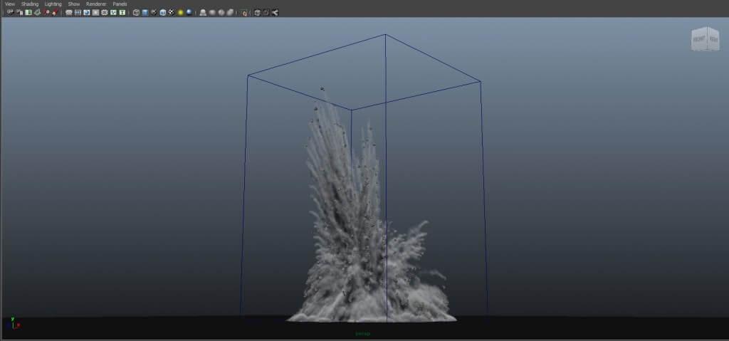 Maya Fx Asset - Dirt Blast