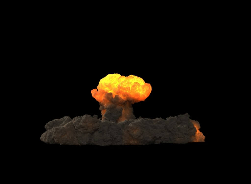 Houdini FX Power Asset - Nuclear Explosions toolkit