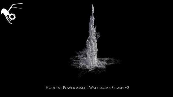 Houdini Power Asset - Waterbomb 001