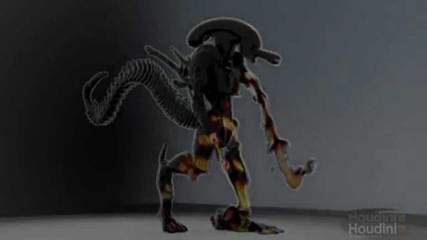Houdini Alien Melt - Asset Design 002
