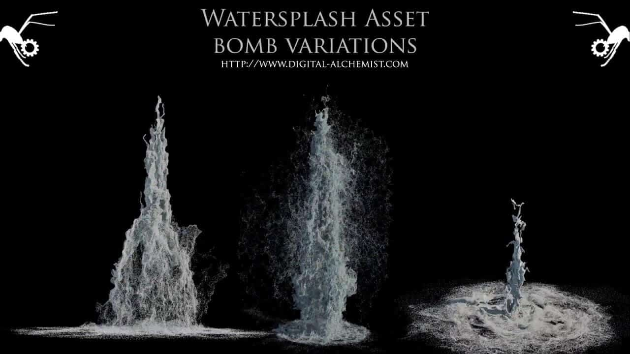 Houdini Power Asset - Waterbomb Asset
