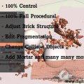 Houdini Brick and Stone Destruction Asset