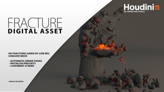 Houdini Digital Fracture Asset File