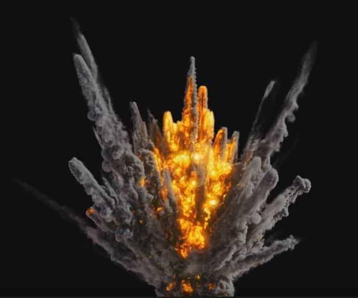 Houdini Pyrofx - Big Strike Explosion