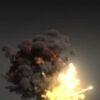 Carpet bombing explosion