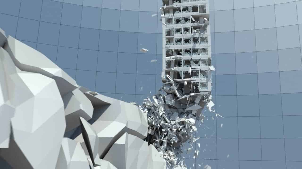 3ds Max Thinking Particles - Destruction FX Rig