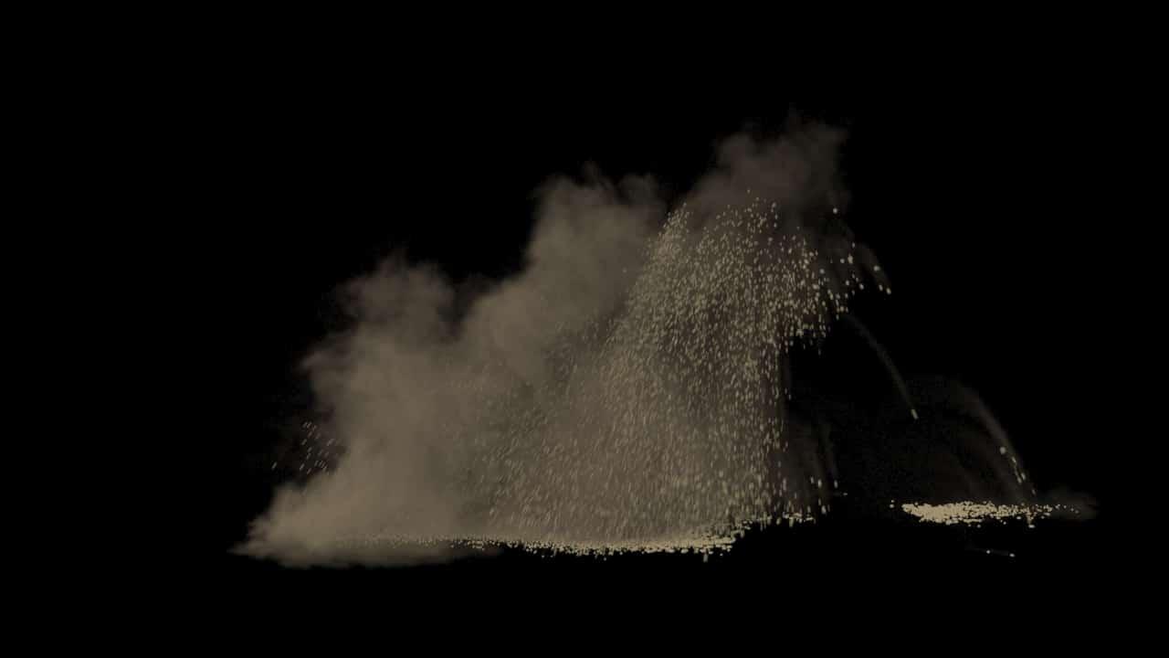 Houdini Sand Explosion/ Impact Asset