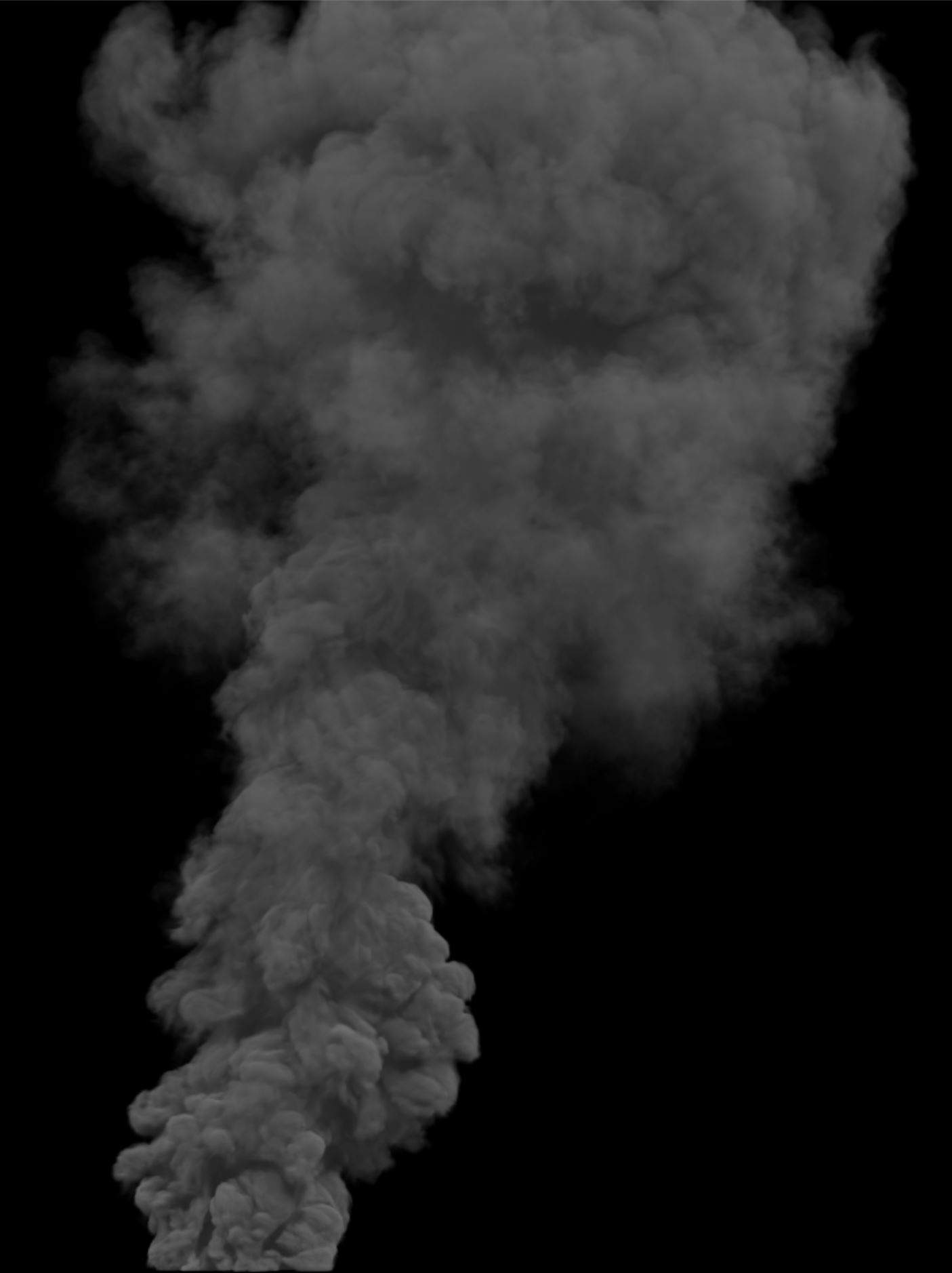 Smoke Plume Animation 4K with Alpha