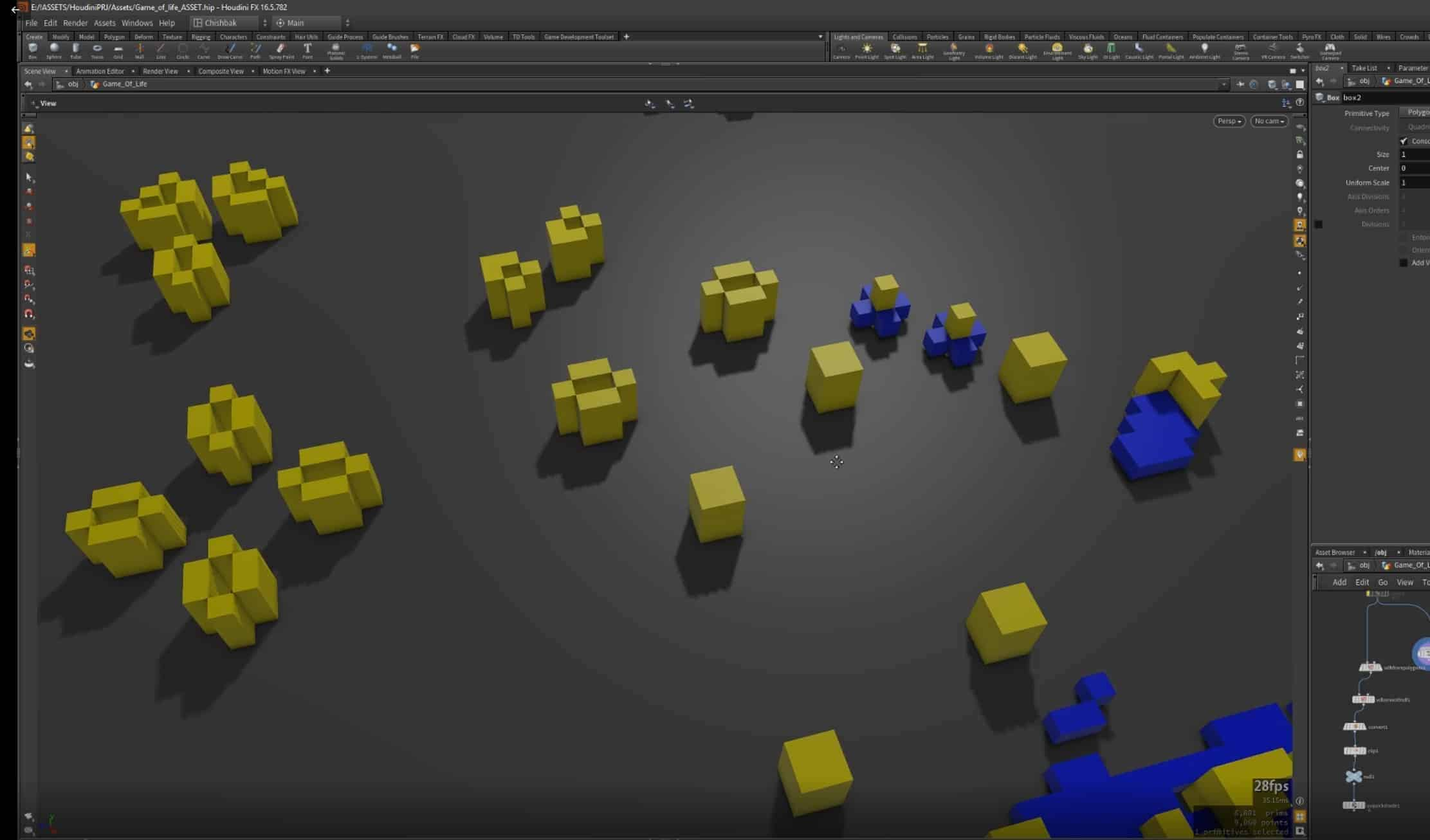 Cellular Automata Asset For Houdini - Game of Life