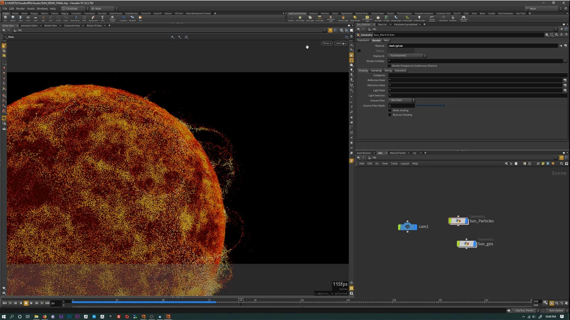 Houdini building Sun package assets