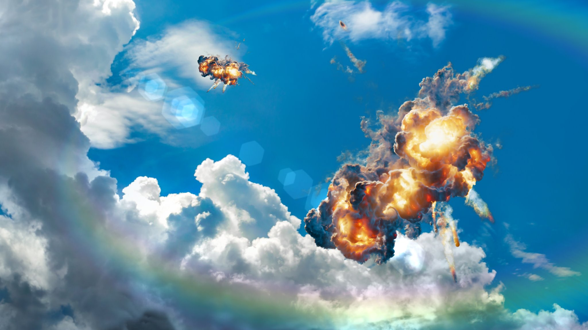 Sky Explosion - EXR Sequence UHD