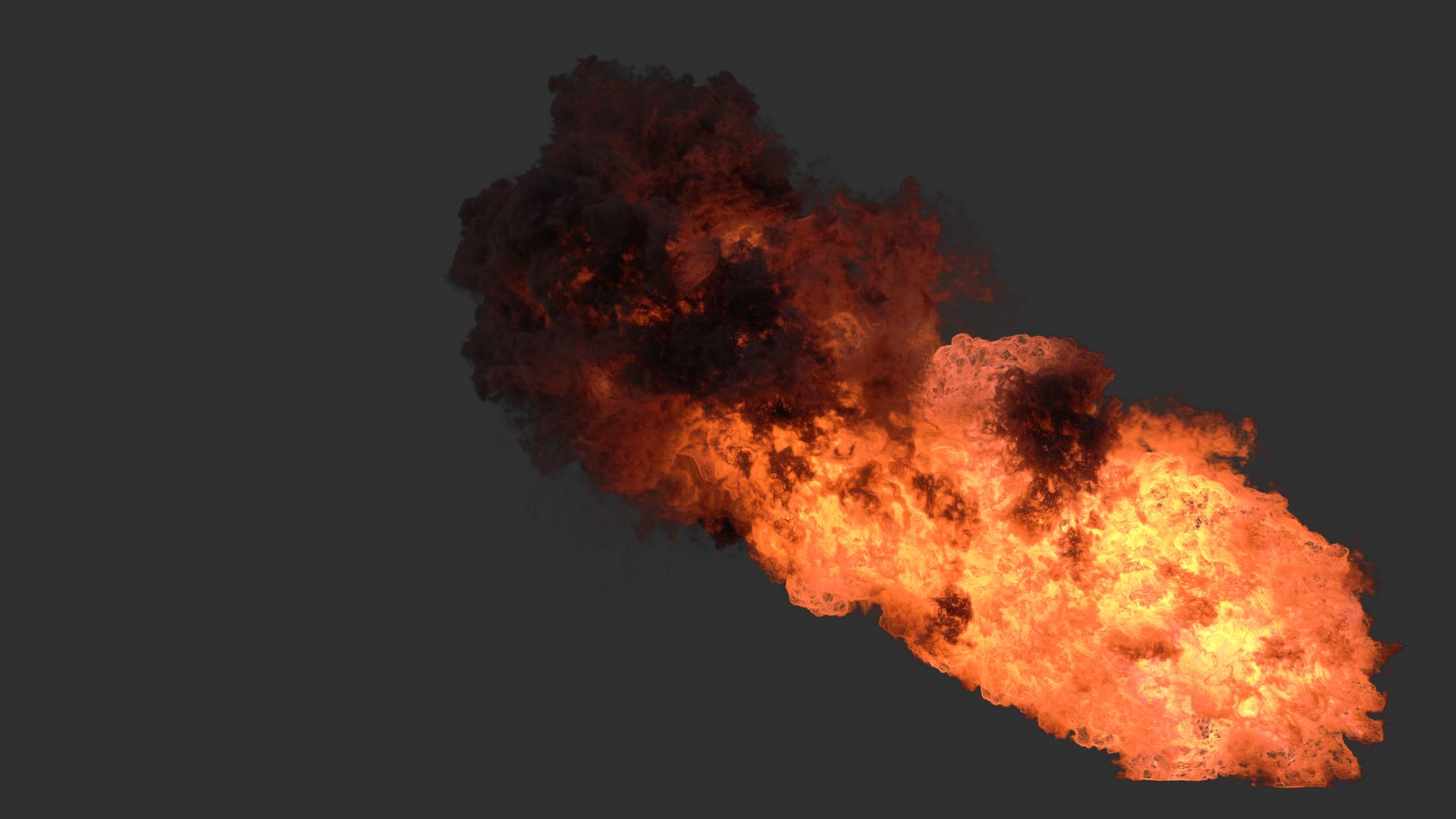 Houdini Redshift - Burning fire asset